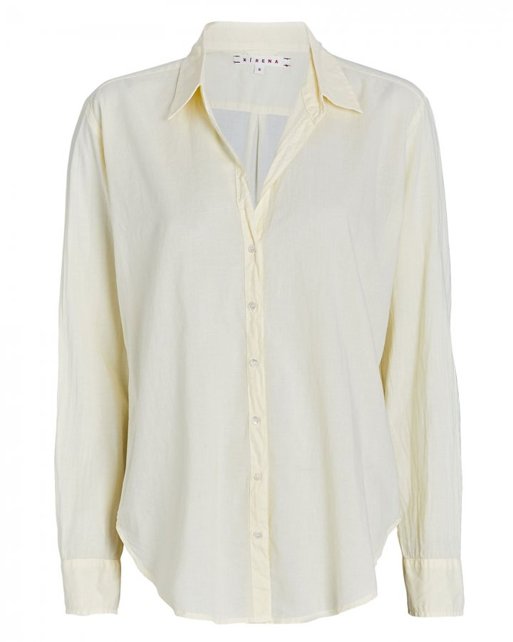 Beau Cotton Button-Down Shirt