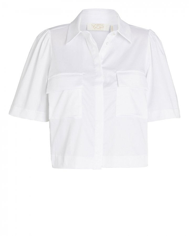 Pollie Cropped Button-Down Shirt