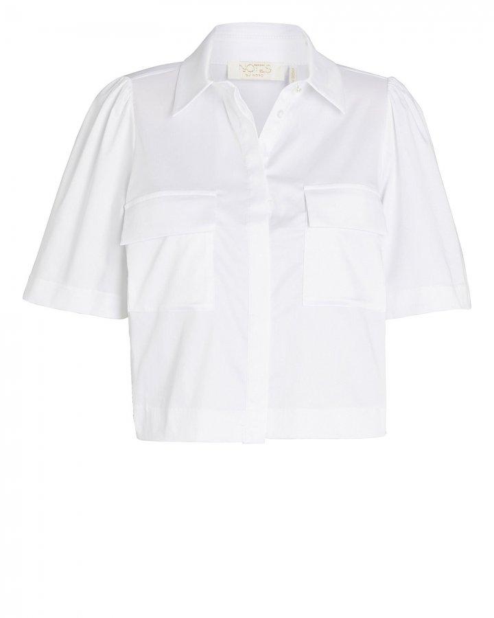 Pollie Cropped Button-Down Shirt