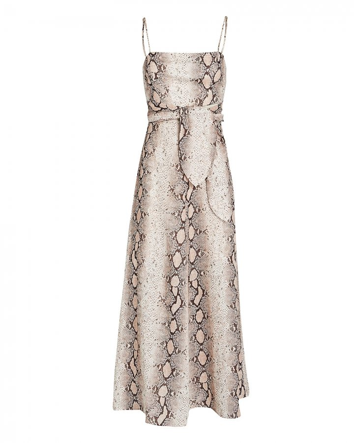 Bellitude Python Printed Linen Dress