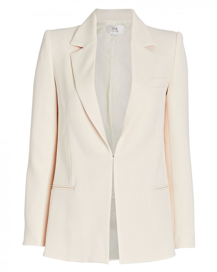 Fitted Crepe Blazer