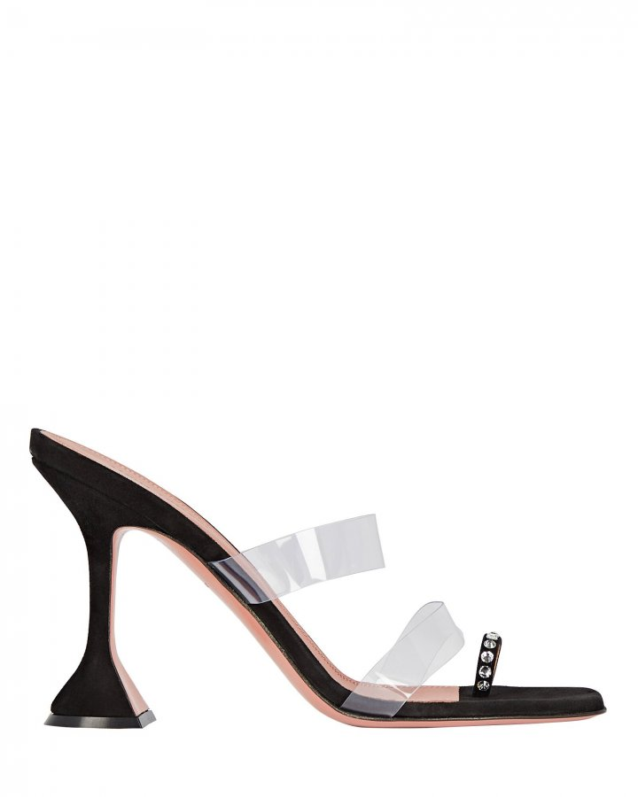 Sami PVC-Trimmed Leather Sandals