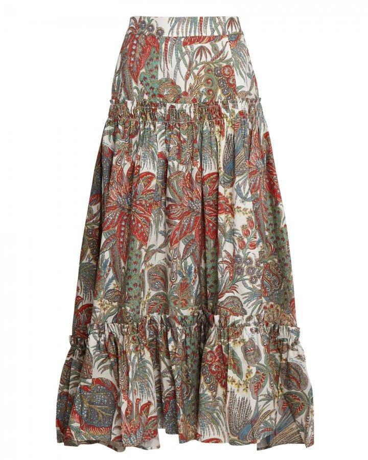 Tisbury Floral Paisley Midi Skirt