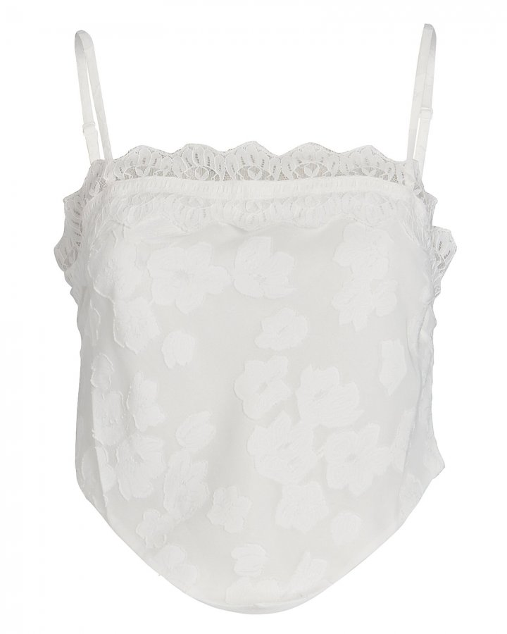 Floral Lace-Trimmed Camisole