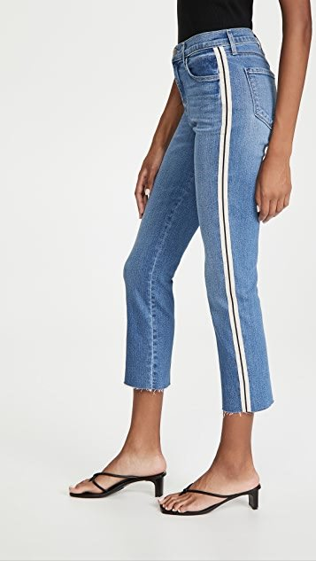 Sada Side Stripe Crop Slim Jeans