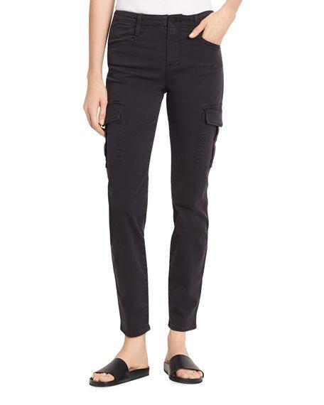 Skinny Cargo Cotton Pants