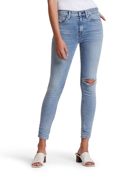 Nico Distressed Crop Skinny Jeans