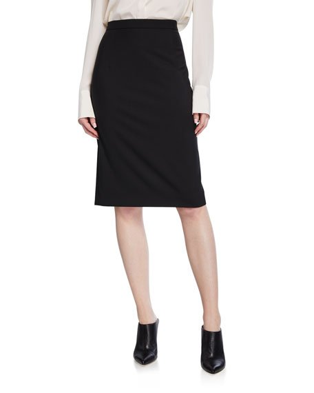Hemdall Good Wool Suiting Pencil Skirt