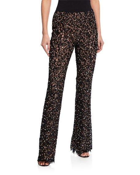 Studded Flare Pants