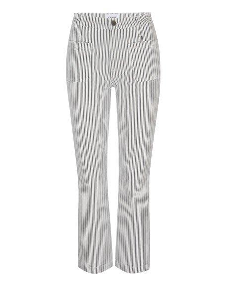 Le Bardot Pinstriped Cropped Flare Pants