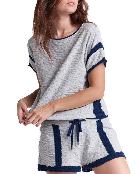 Capri Striped Linen Shorts