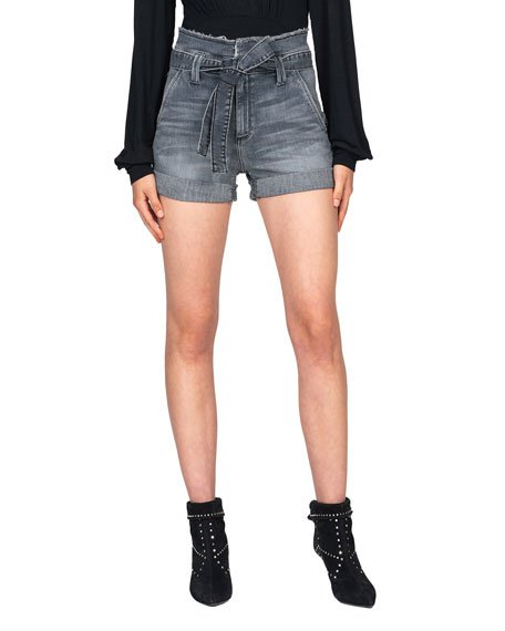 Barbara Belted Paperbag Shorts
