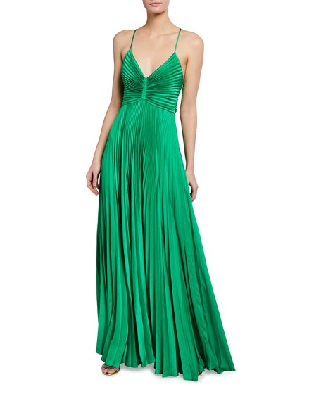 Aries Pleated Gown