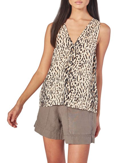 Tadita B Animal-Print Tank Top