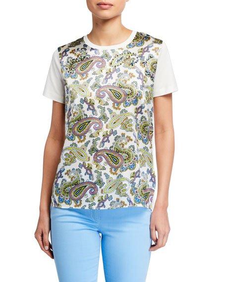 Enaa Paisley-Front T-Shirt