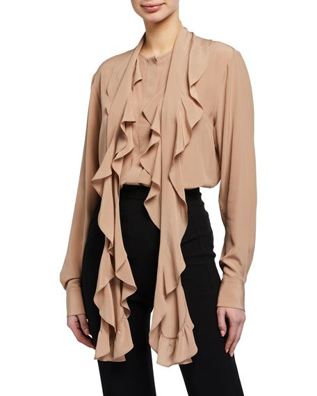 Frilled Scarf Blouse