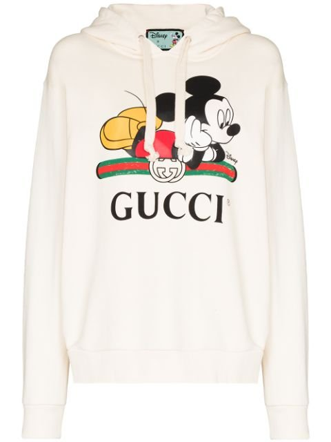 Gucci Mickey Mouse Print Hoodie