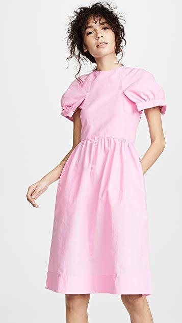 Fit & Flare Petal Sleeve Dress