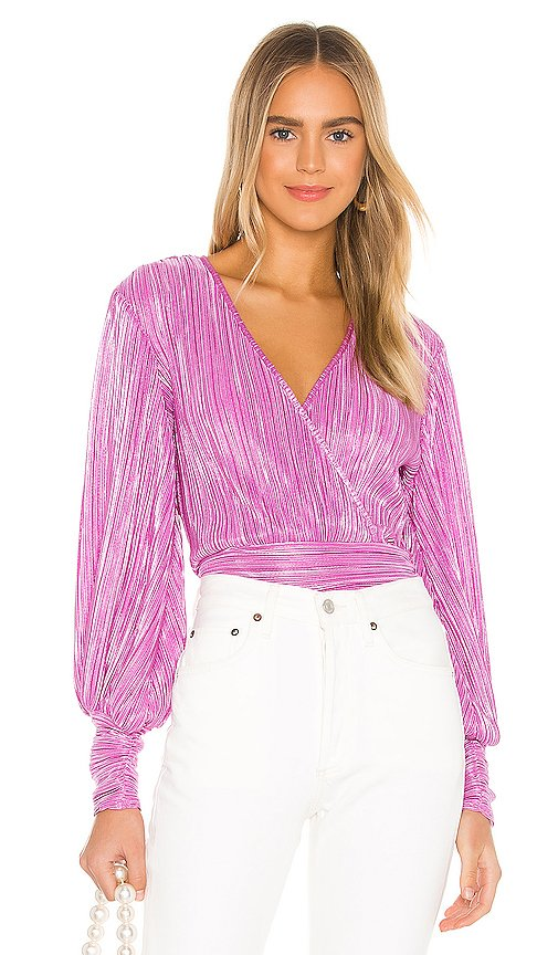 Trinity Pleat Top