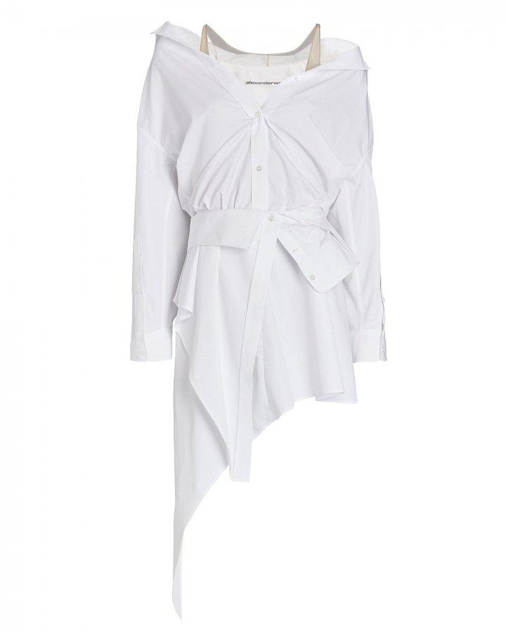 Deconstructed Mini Shirt Dress