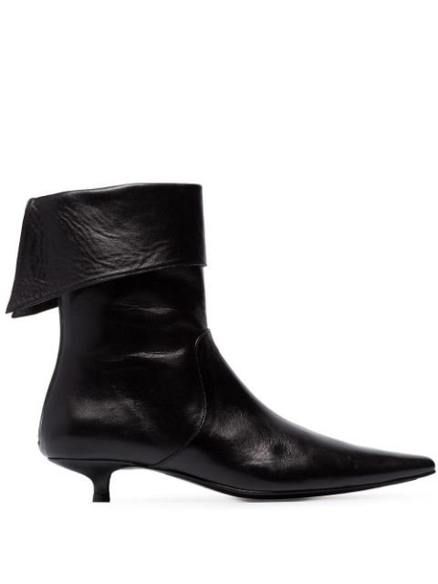 Dorateymur Black Crucified 30 Leather Cuffed Ankle Boots | Farfetch.com