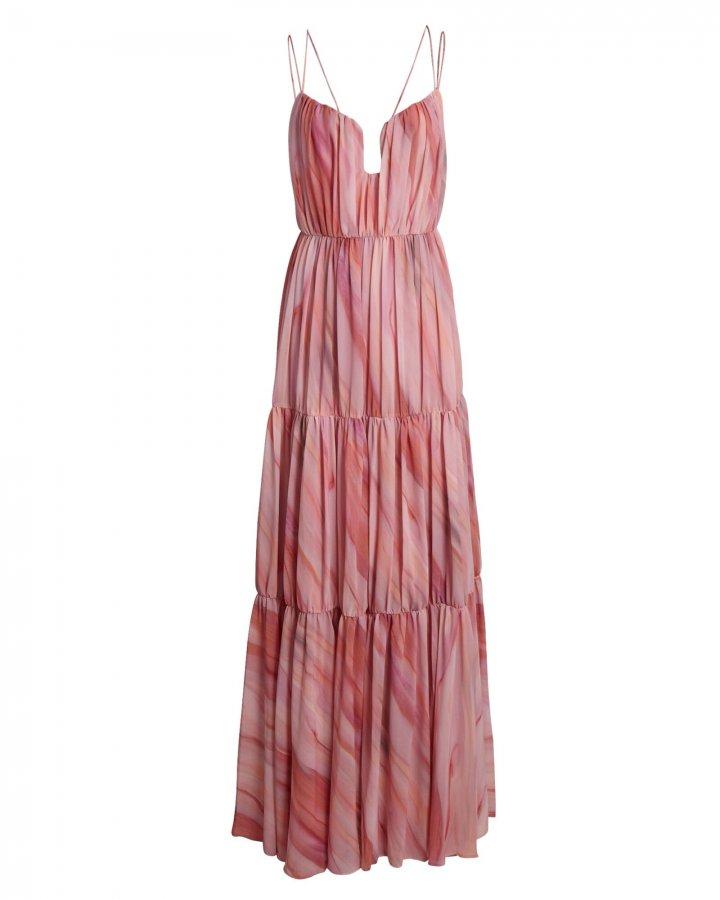 Madeleine Pleated Sleeveless Maxi Dress
