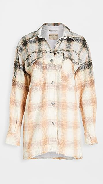 Anneli Plaid Shirt Jacket