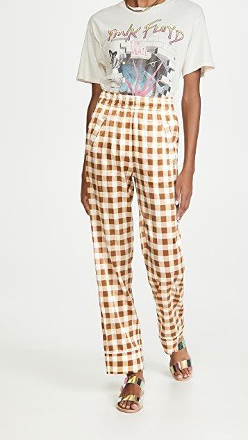 Silk Stretch Satin Trousers