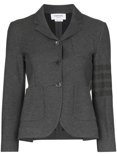 Thom Browne 4-Bar Cropped Blazer Aw20 | Farfetch.Com