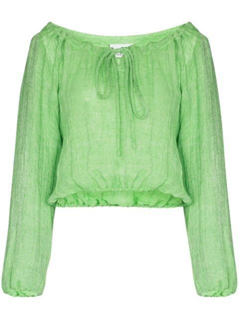 Lisa Marie Fernandez Lmf Top Pst Blse Green Aw20 | Farfetch.Com
