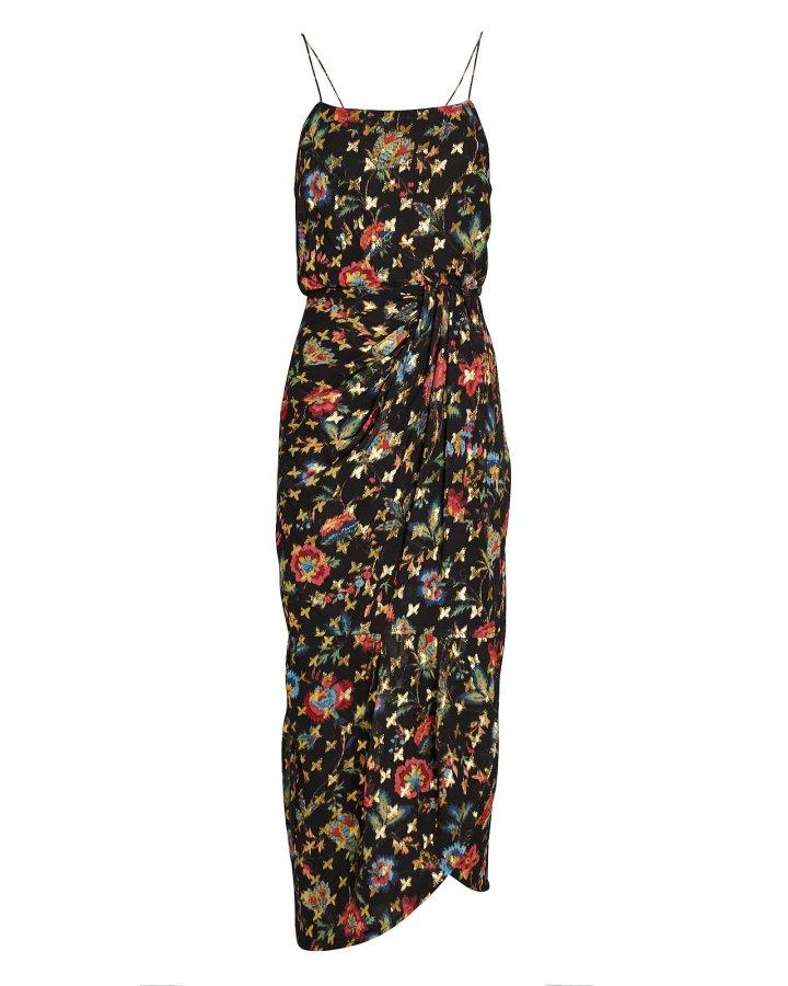 Lexi Silk Floral Sarong Dress