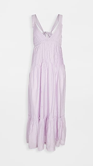 Frankie Pintuck Maxi Dress