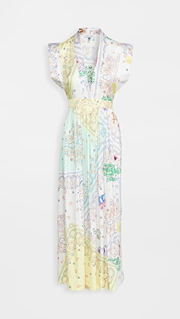 Bandana Print Midi Dress
