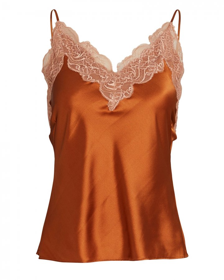 Vanessa Lace-Trimmed Camisole