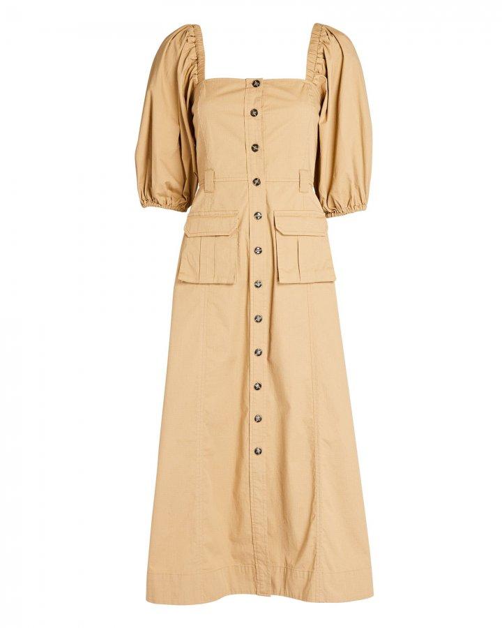 Midi Chino Shirt Dress