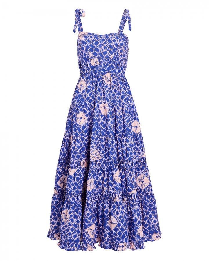 Eryn Printed Poplin Midi Dress
