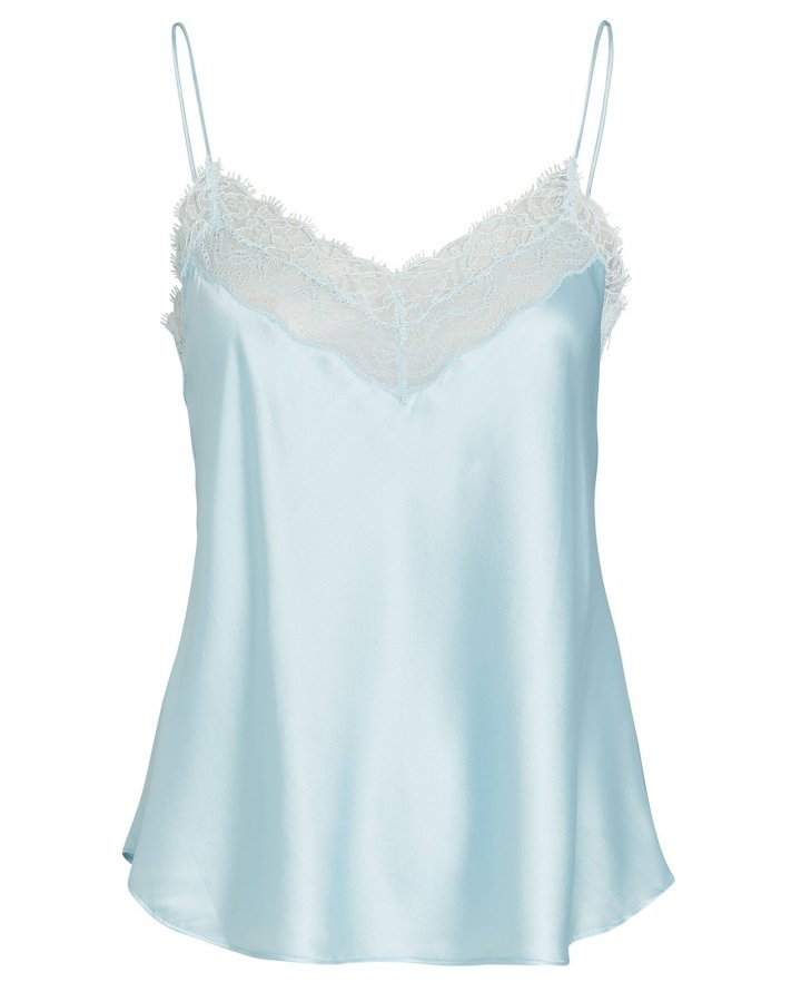 Adriana Lace-Trimmed Silk Camisole