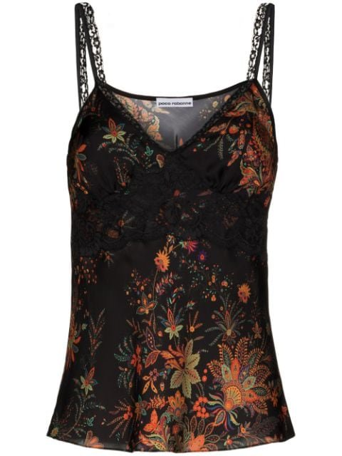 Paco Rabanne floral-print Slip Top