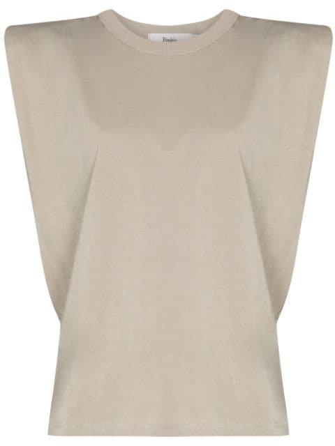 Frankie Shop Eva shoulder-pad T-shirt