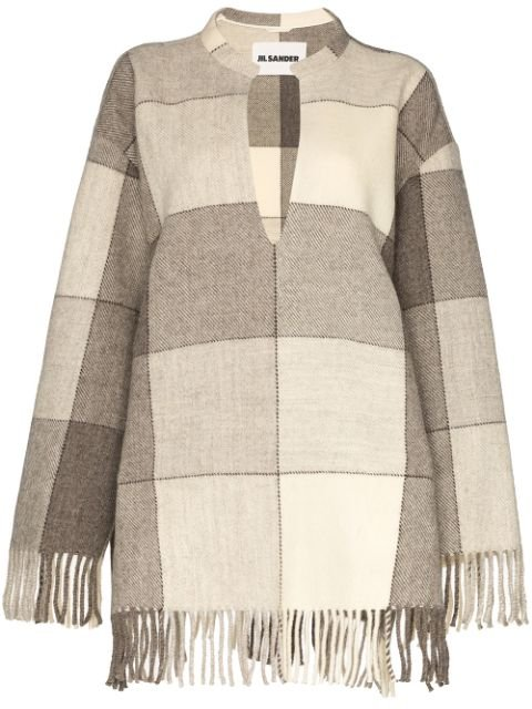 Jil Sander Fringed Checked Tunic Aw19 | Farfetch.Com