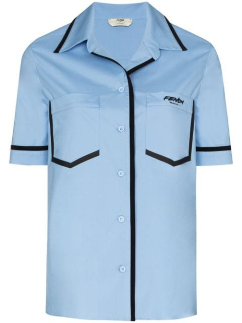 Fendi contrast-trim short-sleeve Shirt