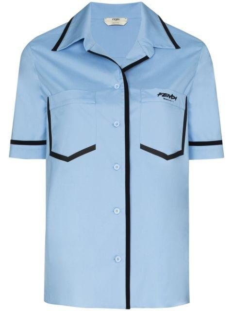 Fendi contrast-trim short-sleeve Shirt