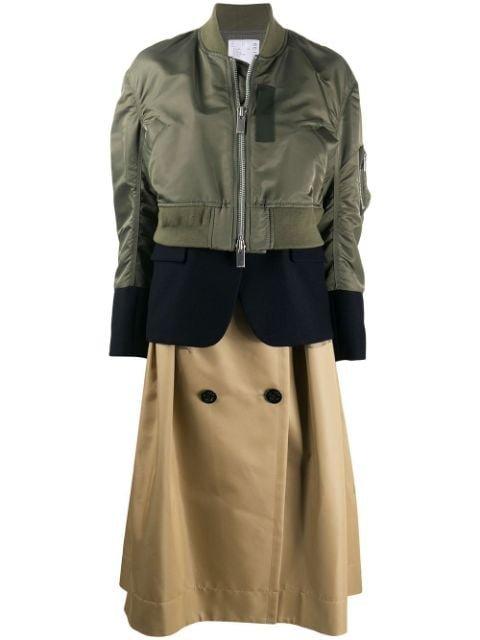 Sacai Hybrid mid-length Coat
