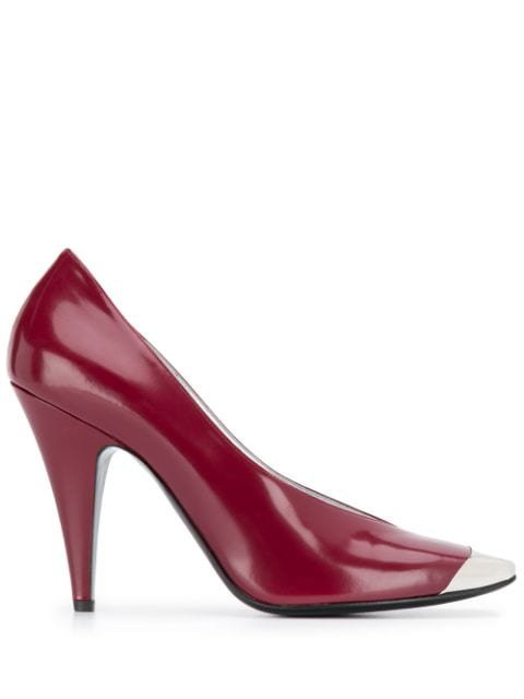 Emilio Pucci Bordeaux Square-Toe Pumps Ss20 | Farfetch.Com