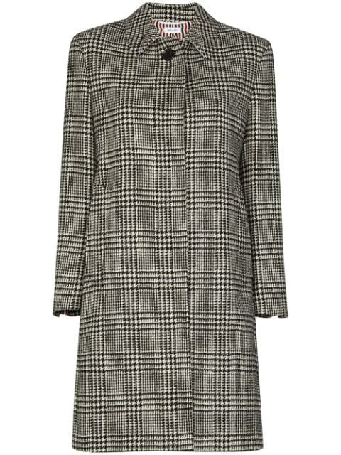 Thom Browne Checked Houndstooth Coat Aw20 | Farfetch.Com
