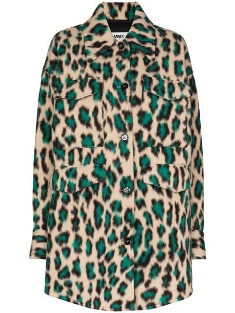 Mm6 Maison Margiela Leopard Print Single-Breasted Coat Aw20 | Farfetch.Com