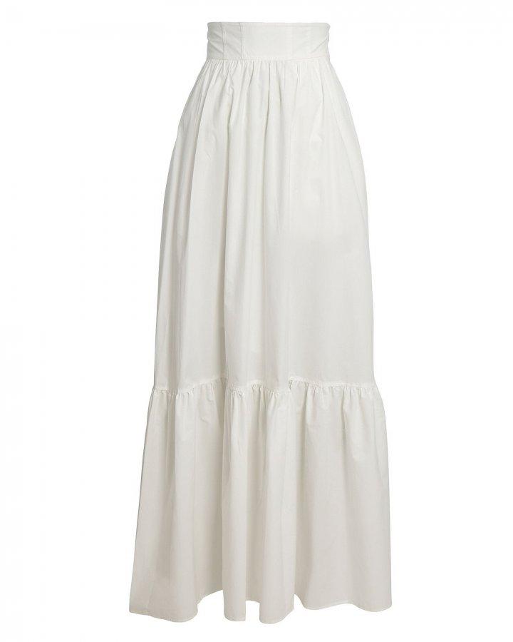 Lila Cotton Poplin Maxi Skirt