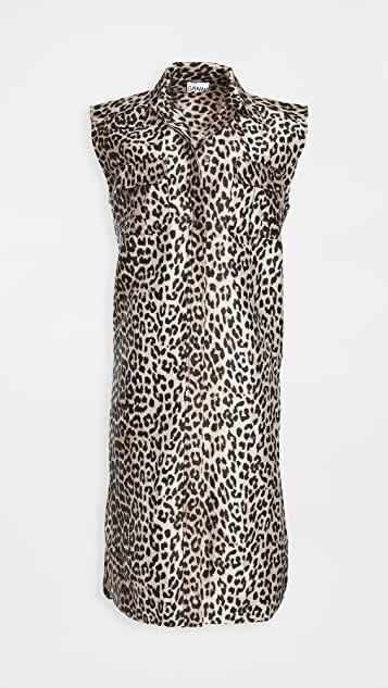 Crispy Jacquard Collared Dress