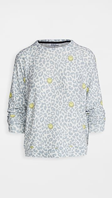 Smiley Leopard Pullover