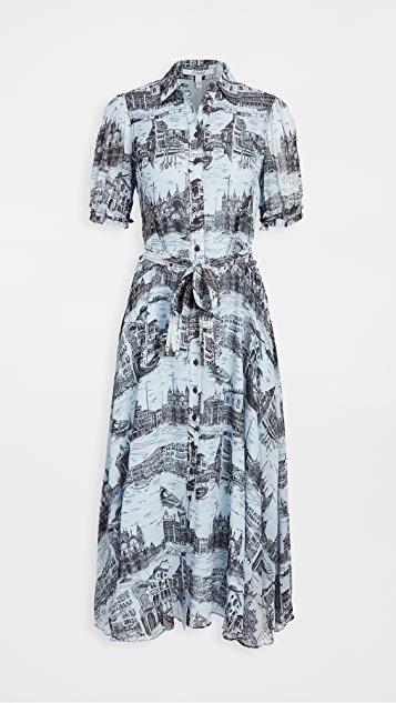 Faye Button Down Midi Dress